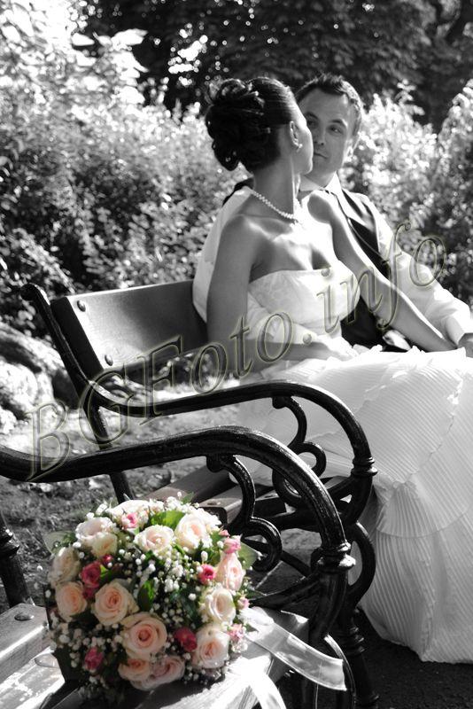 черно-бяла сватбена фотография