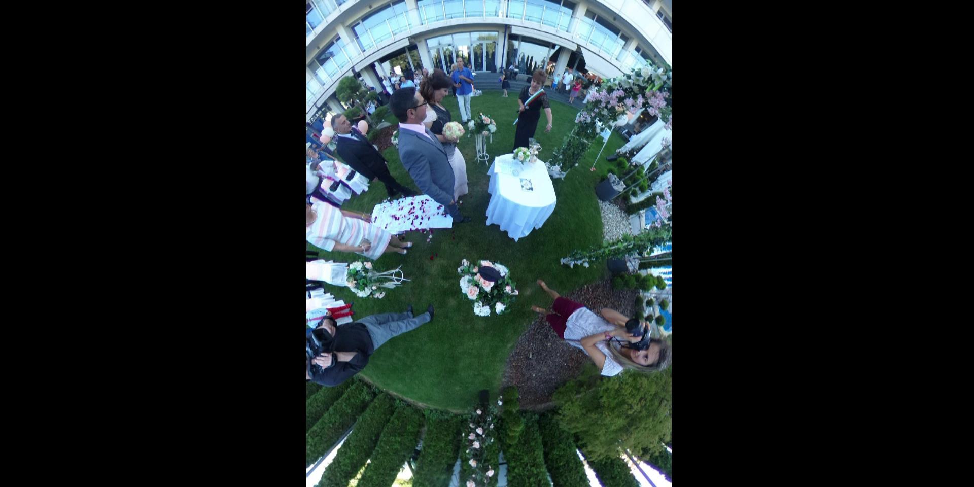 Сватбено видеозаснемане и забвавно селфи след изнесен ритуал в ресторант My Choice - SkyWay - София (Видео)